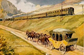 Bild: Wünschendorf Postwesen Erzgebirge