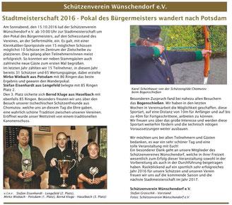Bild: Teichler Wünschendorf Schützenverein