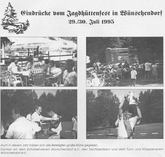 Bild: Teichler Wünschendorf Erzgebirge Jagdhüttenfest 1995