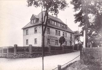 Bild: Teichler Wünschendorf Erzgebirge Gemeindeamt 1923