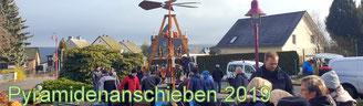 Bild: Wünschendorf Erzgebirge Pyramidenanschieben 2019