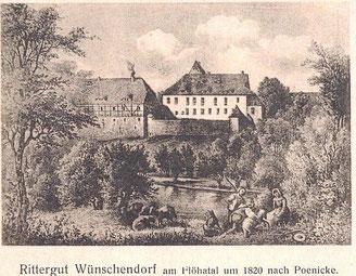 Bild: Teichler Rittergut Wünschendorf 1820