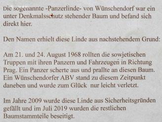 Bild: Wünschendorf Teichler Erzgebirge Panzerlinde