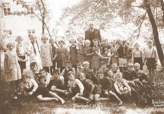 Bild: Teichler Wünschendorf Erzgebirge Schulklasse 1937