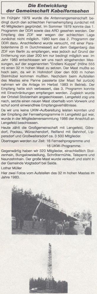 Bild: Teichler Wünschendorf Erzgebirge Antennengemeinschaft