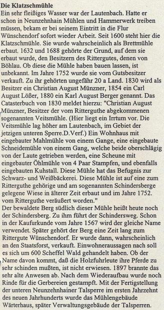 Bild: Wünschendorf Erzgebirge Klatschmühle Göckeritz