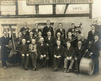Bild: Teichler Wünschendorf Erzgebirge Musikkapelle 1926