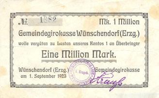Bild: Teichler Wünschendorf Notgeld 1923