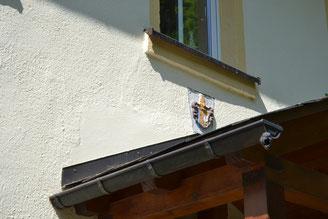 Bild: Rotes Haus Wappen Wünschendorf Erzgebirge