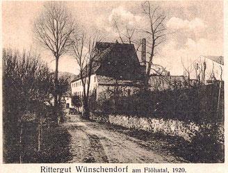 Bild: Teichler Rittergut Wünschendorf 1920