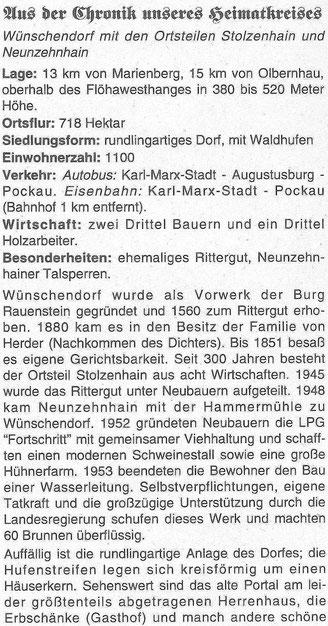 Bild: Wünschendorf Chronik teichler Erzgebirge