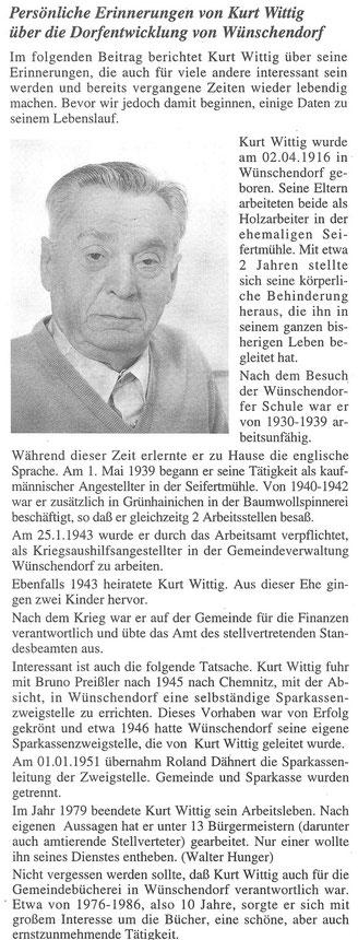 Bild: Wünschendorf Bürgermeister Erzgebirge Wittig