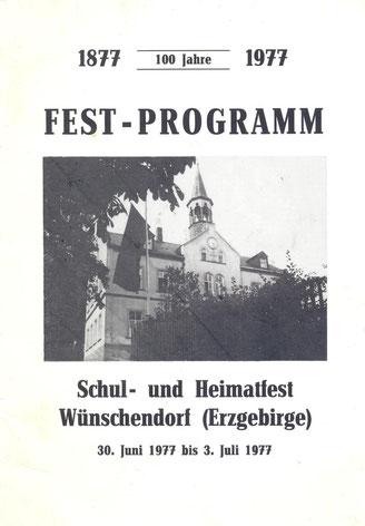 Bild: Wünschendorf Programm Schulest 1977