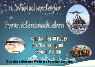 Bild: Pyramidenanschieben Wünschendorf Teichler 2019