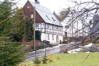 Bild: Teichler Wünschendorf Erzgebirge Fachwerk