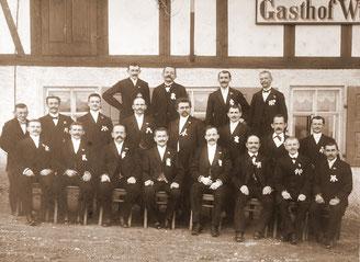 Bild: Teichler Wünschendorf Erzgebirge Männergesangsverein Wünschendorf 1911