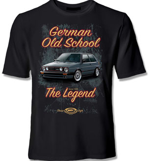VW Golf 2 GTI T-Shirt,MK2 T-Shirt,Golf 2 tuning shirt