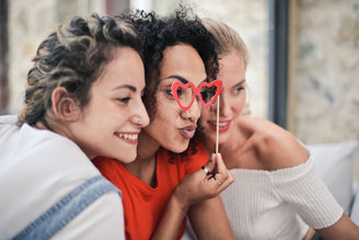 Dresden - Fotoboxmomente mit drei Frauen