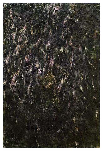 lucciola 22.12.2016 Kunstharz, Steinmehl, Acrylfarbe, Ölfarbe auf Papier 70 x 47 cm