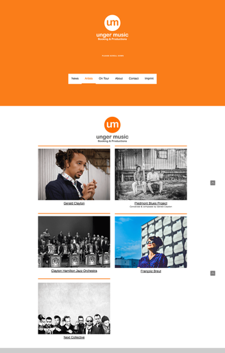 Website using orange