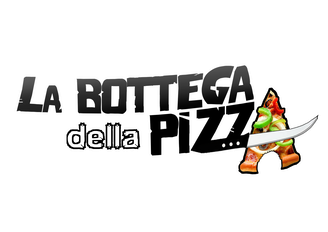 Logo la bottega della pizza, la bottega della pizza, chaussée de Bruxelles, Casteau, Soignies, à proximité de Mons, Jurbise, Ath, Saint-Denis, Maisières, Nimy, Hainaut, Belgique