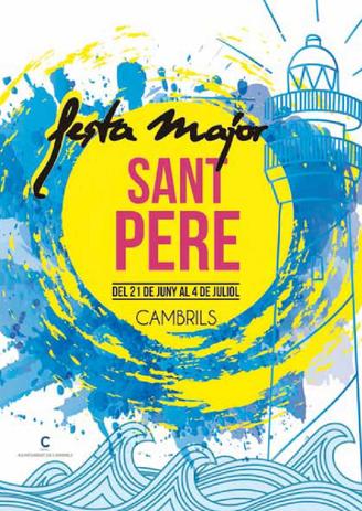 Cartel y programa de la Festa Major de Sant Pere en Cambrils 2015