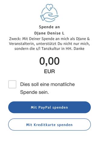 Spenden Button DJane Denise Lau über PayPal