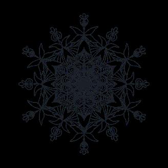 Blume in scharzweiß als Kommunikationssymbol