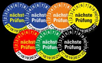 nächste Prüfung nächster Prüftermin Prüfplaketten Wartungsetiketten