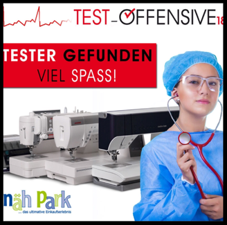 Produkttester Testoffensive Nähpark Paff Creative iCon