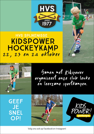 Flyer voor de hockeykamp 2018 van Kidspower