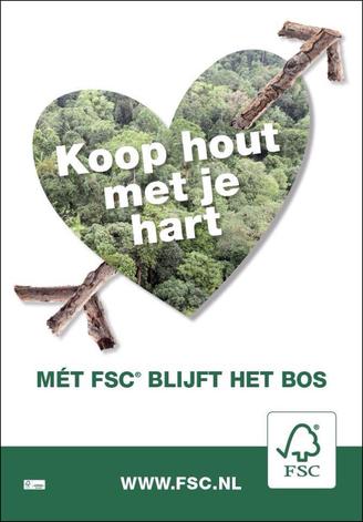 Abri poster voor FSC, april 2015 door heel Nederland te zien.