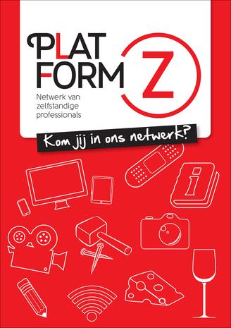 Flyer Platform-Z, complete nieuwe huisstijl inclusief logo