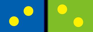 テニスコートの色の対比