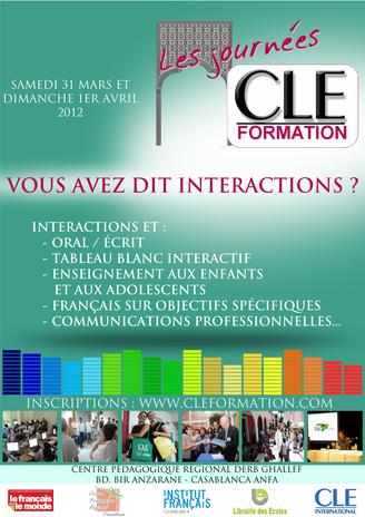 Affiche des Journées CLE Formation à Casablanca - 2012