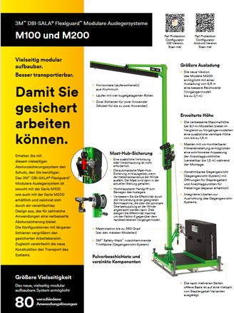 3M DBI SALA Flexiguard Auslegersysteme M100 und M200 - Deutsche Broschüre
