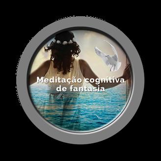 Botão Meditação cognitiva de fantasia