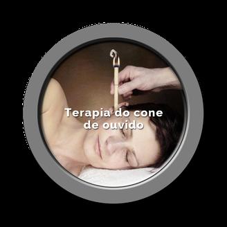Botão Terapia do cone de ouvido