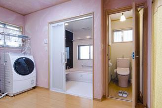 リフォーム後の洗面浴室