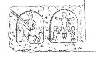 Devant d'autel trouvé à la commanderie de Montgauguier - musée Sainte Croix à Poitiers