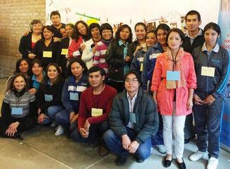 TeilnehmerInnen des 3-tägigen Workshops bei Cisol in Loja