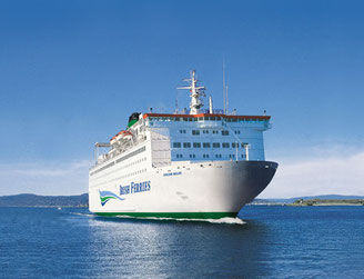 M/S Oscar Wilde, launched in 1986, the only cruise ferry operated by Irish Ferries that links France and Ireland.