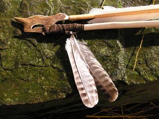Rekonstruktion einer steinzeitlichen Speerschleuder