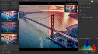Bildschirmfoto der Software HDR Efex Pro