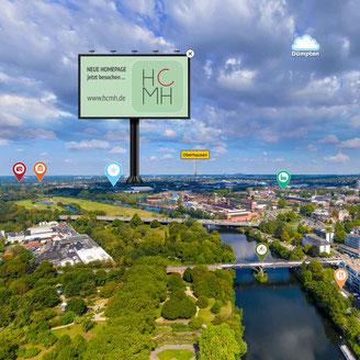 Beispiel: Billboard Ruhrpromenade