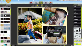 User interface of Kizoa collage maker