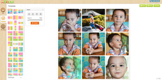 Photocat collage online is easy to use with it's modern interface