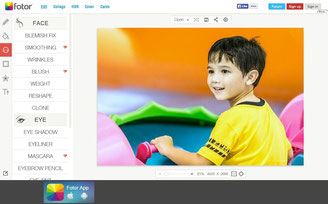 Free online photo editors and images retouch in the web browser