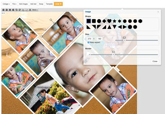 Photo Collage has a nice and simple user interface