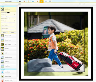 ipiccy is very easy to use to add frames and border to your photos